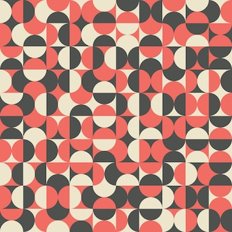 Retro- abstraktes nahtloses muster mit halbkreisen.
