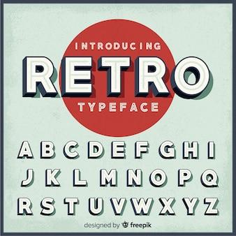 Retro alphabet