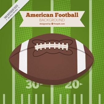 Retro american football ball hintergrund