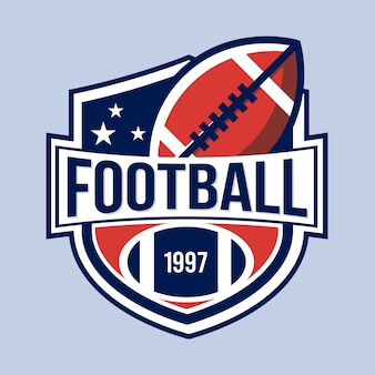 Retro american football-logo-konzept