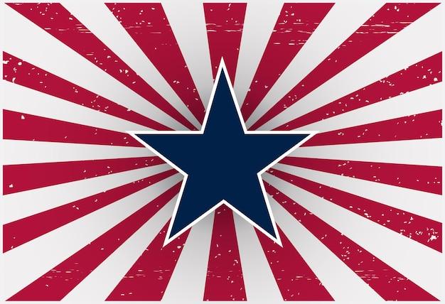 Retro amerikanischer unabhängigkeitstag hintergrund