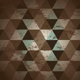 Retro- aufkleber über musterhintergrund-vektorillustration