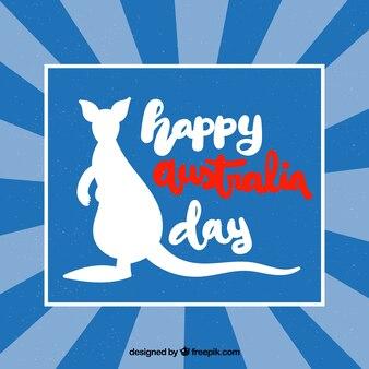 Retro- australien-tagesdesign mit känguru