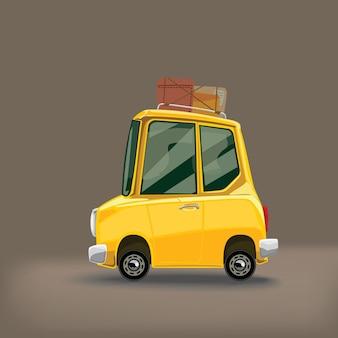 Retro auto gelbe farbe