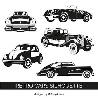 Retro-autos qualität vektoren