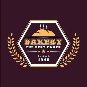 Retro backery logo vorlage thema