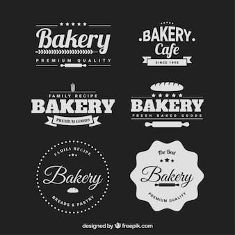 Retro bäckerei abzeichen packung