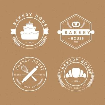 Retro bäckerei-abzeichensammlung