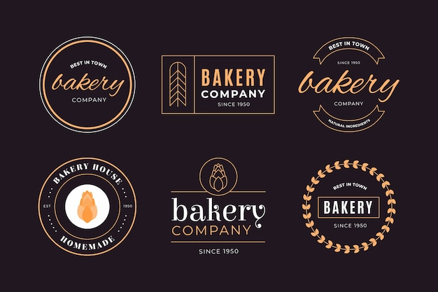 Retro bäckerei-geschäftsfirmenlogo