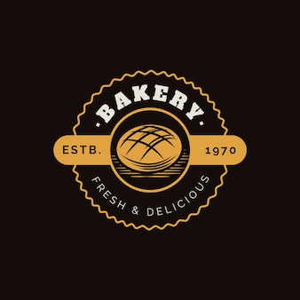 Retro bäckerei kuchen logo