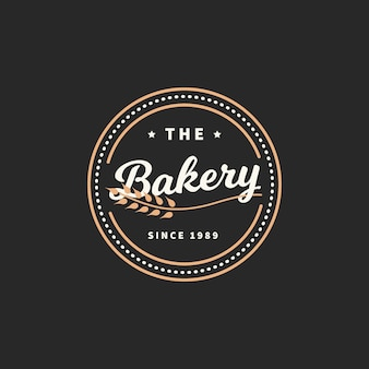 Retro bäckerei logo konzept