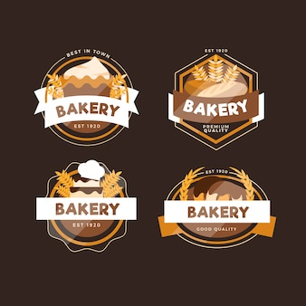 Retro bäckerei logo pack