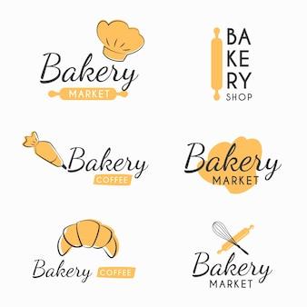Retro bäckerei logo
