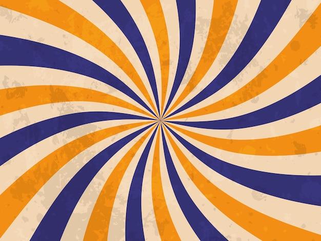 Retro-banner. retro-sonnendurchbruch-hintergrund. grunge-textur. vektor-illustration