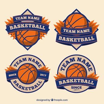 Retro basketball-aufkleber pack