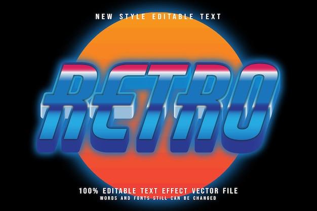 Retro-bearbeitbarer texteffekt prägen retro-stil