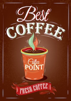 Retro bester kaffee