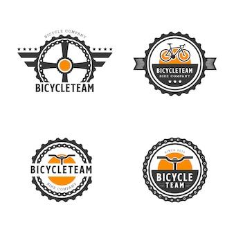 Retro bike abzeichen / emblem vorlage