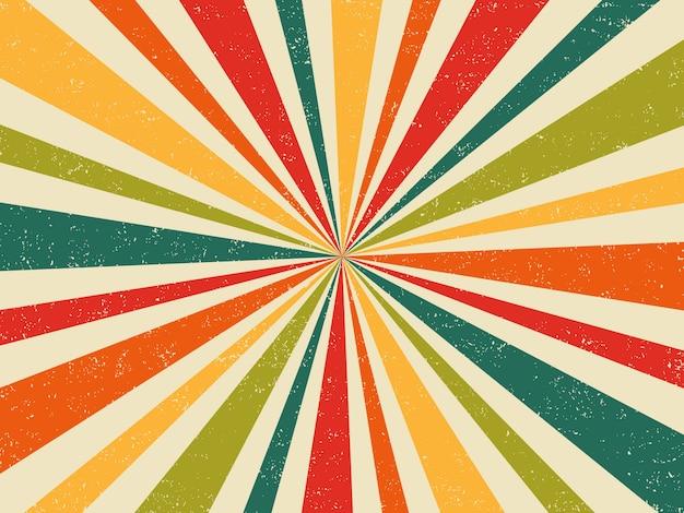 Retro-burst-weinlesehintergrund der frischen farben