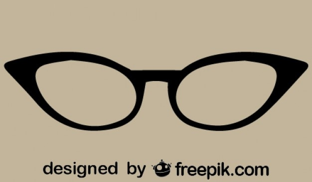Retro-cat-eye-brille vektor-symbol