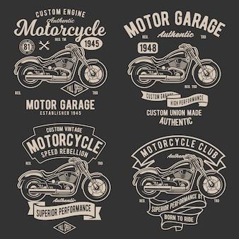 Retro classic motorrad abzeichen