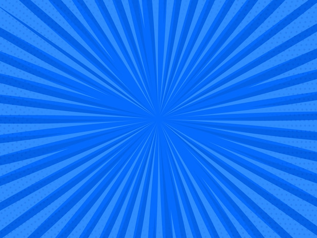 Retro-comic-hintergrund der pop-art. blitzschlag halbtonpunkte. vektorillustration.