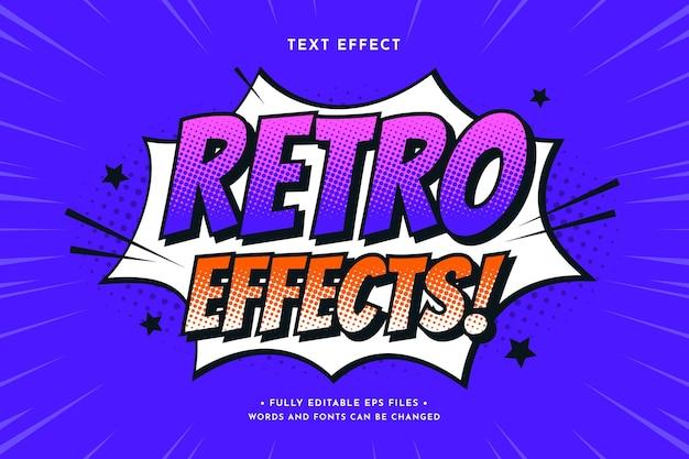 Retro-comic-texteffekt