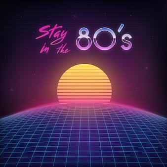 Retro cover der 1980er jahre.