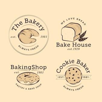 Retro design bäckerei logo