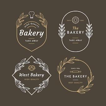 Retro-design des bäckerei-logos