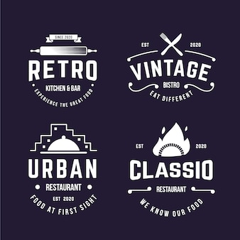 Retro-design für logo-pack