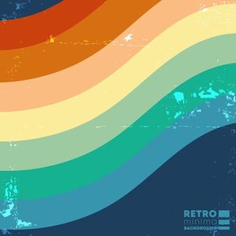 Retro design hintergrund mit vintage farbstreifen. vektorillustration.