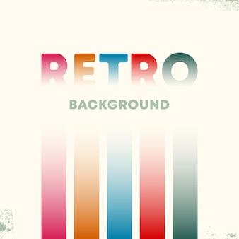 Retro-design-hintergrund mit vintage-grunge-textur und farbverlaufslinien. vektor-illustration.