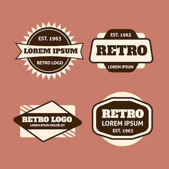 Retro design logo pack