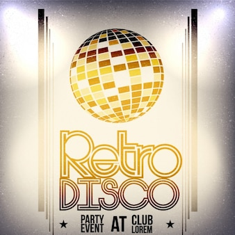 Retro disco-plakat