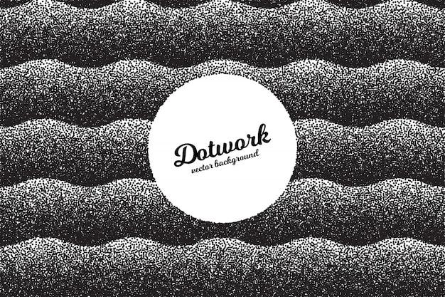 Retro dotwork-beschaffenheits-zusammenfassungs-hintergrund