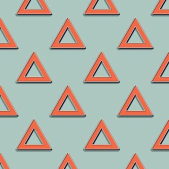 Retro-dreieck-muster, abstrakter geometrischer hintergrund im stil der 80er, 90er jahre. geometrische einfache illustration