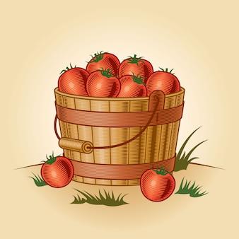 Retro eimer tomaten