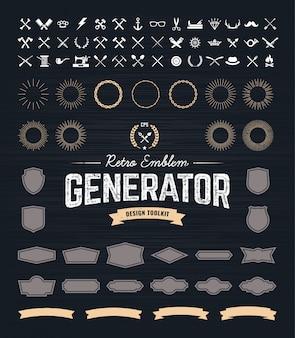 Retro emblem-generator
