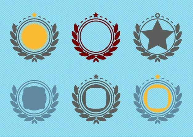 Retro-emblem plakette dekoration