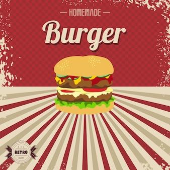 Retro-fast-food-seitenvorlage