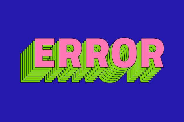Retro-fehlertext mit ebenen
