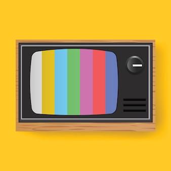 Retro- fernsehen fernsehunterhaltungs-medien-ikonen-illustration