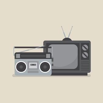 Retro fernsehen und radio