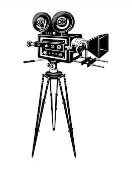 Retro-filmkamerakonzept