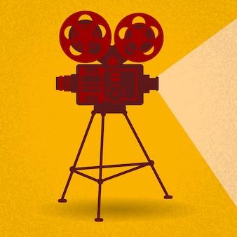 Retro filmprojektor film kino