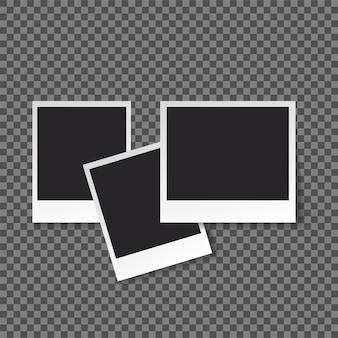 Retro-foto-frame-vorlage für ihre fotos.