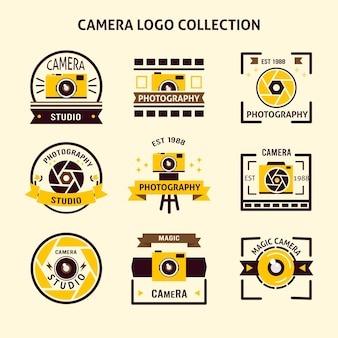 Retro foto-logos pack