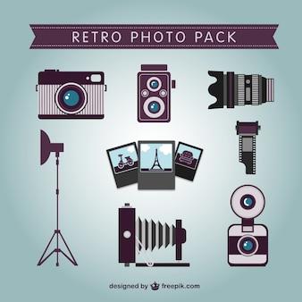 Retro-foto-pack vektor