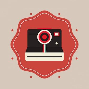 Retro- fotokamera-emblembild